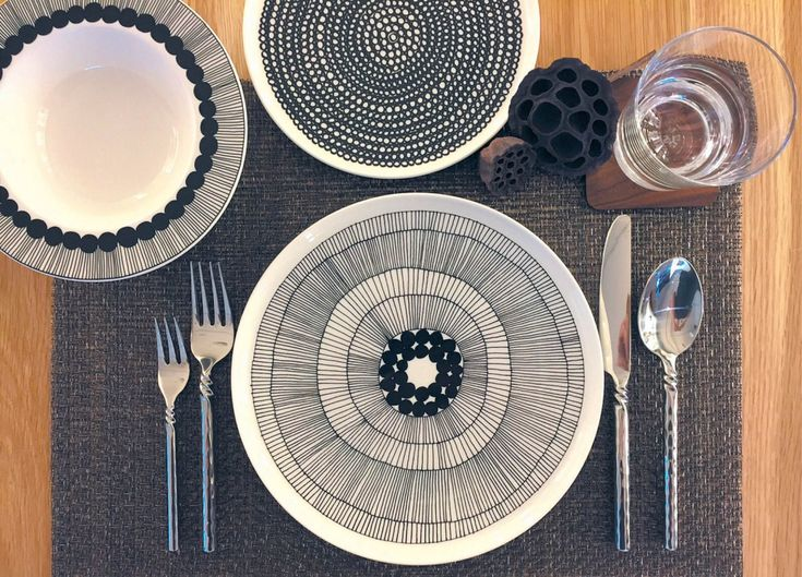 Bold & graphic. Black & white. Tableware by Marimekko, placemat by Chilewich and wine glass by LSA. All at Gudang BSC. (Images by Raymond Lee)