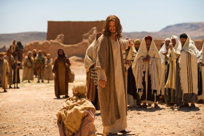 "Follow link for Richard Rohr's reflection on Gospel for 5th Sunday Lent :- ""Subverting The Honor/Shame System- Leveling the Field.""  Image from Son of God film."