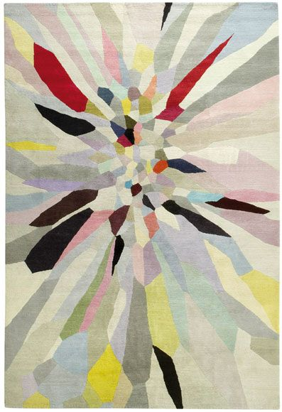 Colorful Zap Wool Rug by Fiona Curran