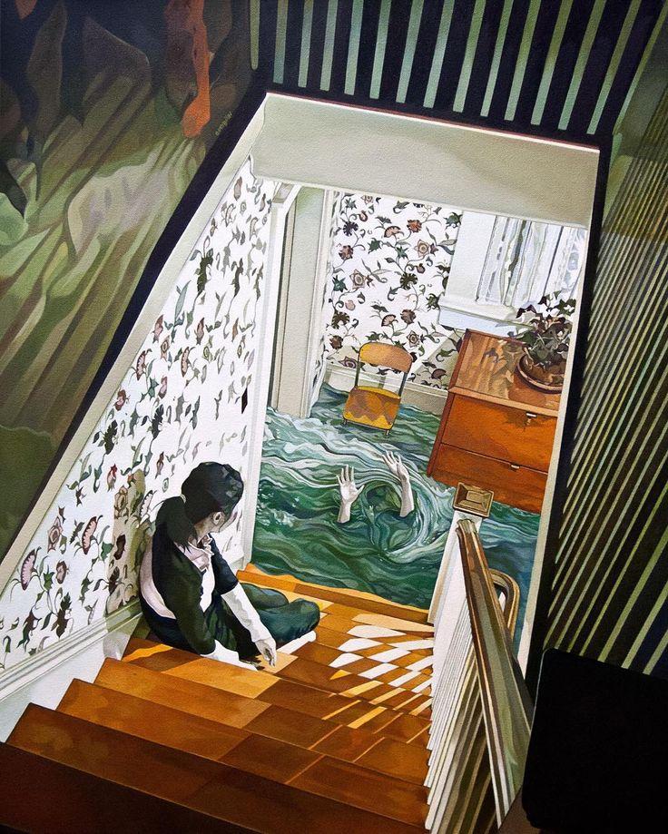'Cacophony' oil and acrylic on canvas by Jolene Lai @enelojial US. 'Какофония' масло и акрил на холсте работа Джолин Лай США.  #иллюстрация #искусство #графика #холст #арт #art #illustration #pencil #drawing #draw #ink #oil #digitalart #mixedart #水彩画 #contemporaryart #sketchbook #graphic #timetoart