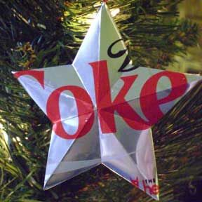A crap-load of Coke can ornament crafts, and other soda can stuff...