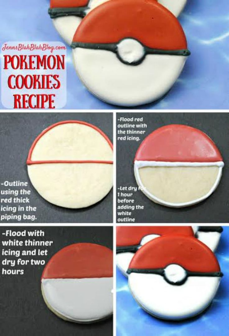 Pokemon Ball Cookie Recipe