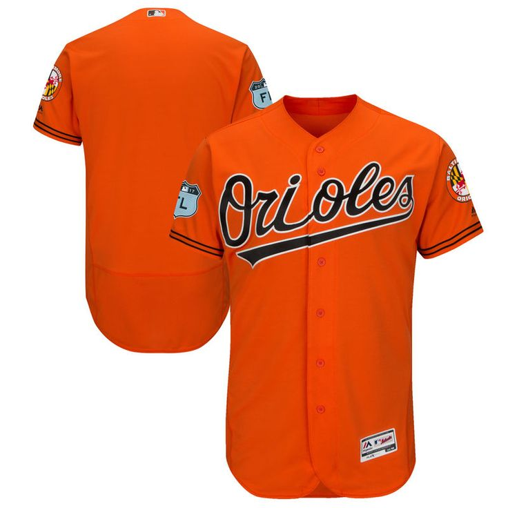 2ccc7e6abad ... mlb cool base  baltimore orioles majestic 2017 spring training  authentic flex base team jersey orange 49 dylan bund