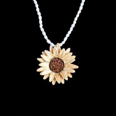 Michael Michaud, Sunflower pendant on pearls