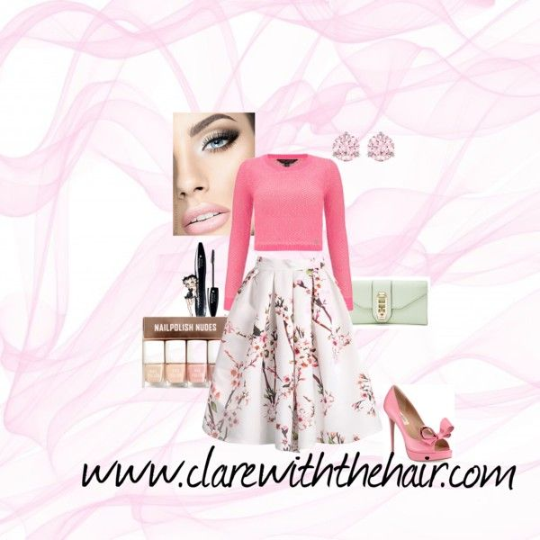 Spring Style by clarewiththehair on Polyvore featuring Lipsy, Valentino, Rebecca Minkoff, Swarovski, Lancôme and H&M