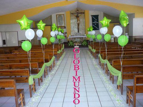 Decoracion de iglesia globimundo mony quinceanera for Decoracion de quinceanera