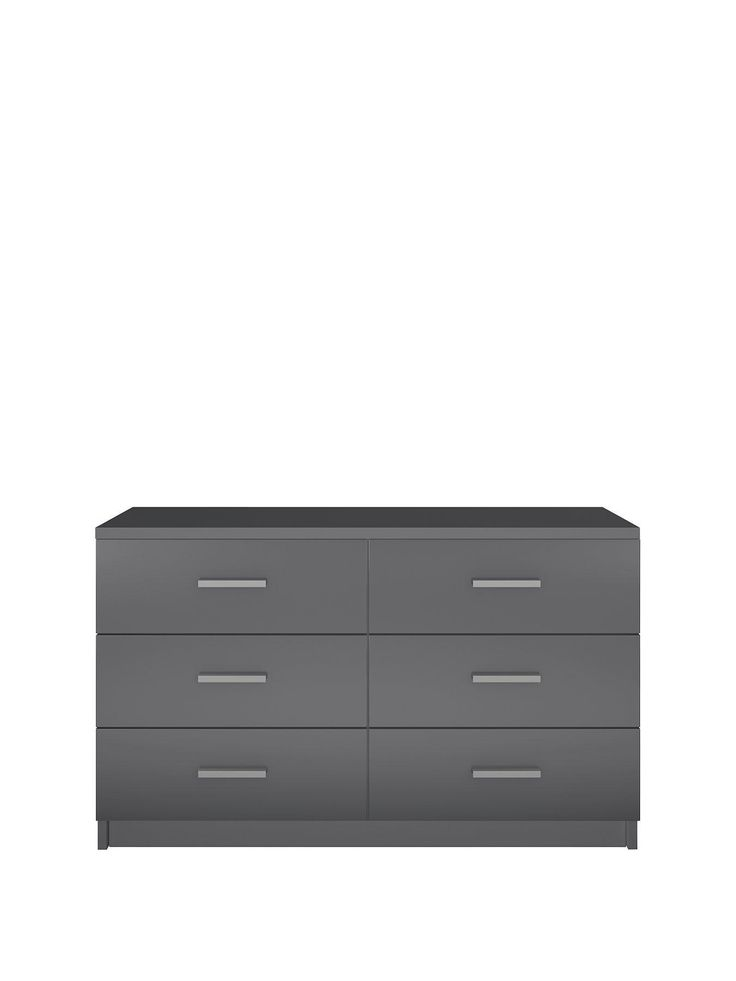 black or white furniture. prague gloss 3 chest of drawers in black grey or white bedroom furniture w