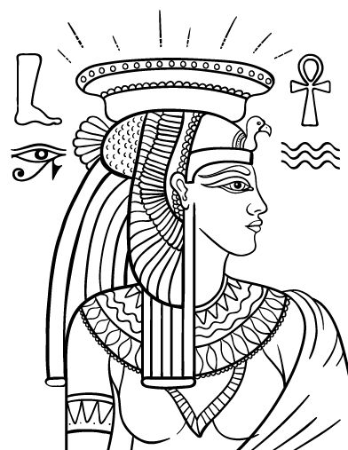 Printable Cleopatra coloring page Free PDF download at