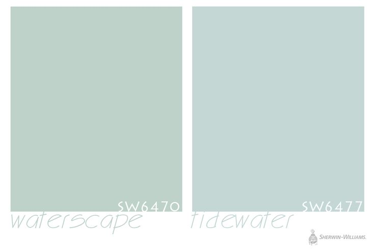 Sherwin-Williams paint in Waterscape and Tidewater