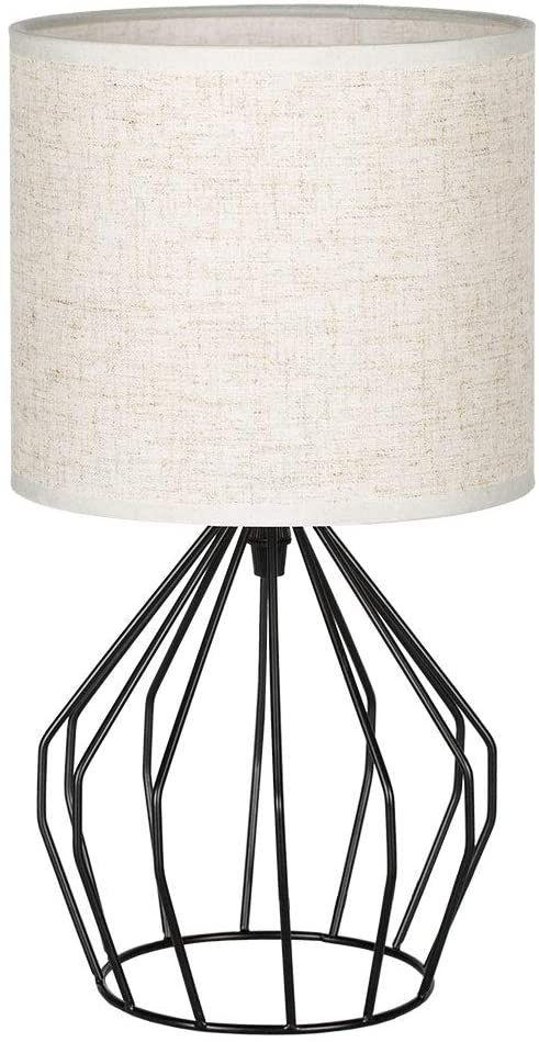 Black Metal Bedside Tables: Minimalist Bedside Desk Lamp