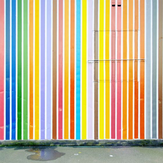 striped wall: Color Palettes, Modern Bathroom Design, Stripes Wall, Bright Color, Matthia Heiderich, Urban Landscape, Berlin Germany, Kids Rooms, Accent Wall
