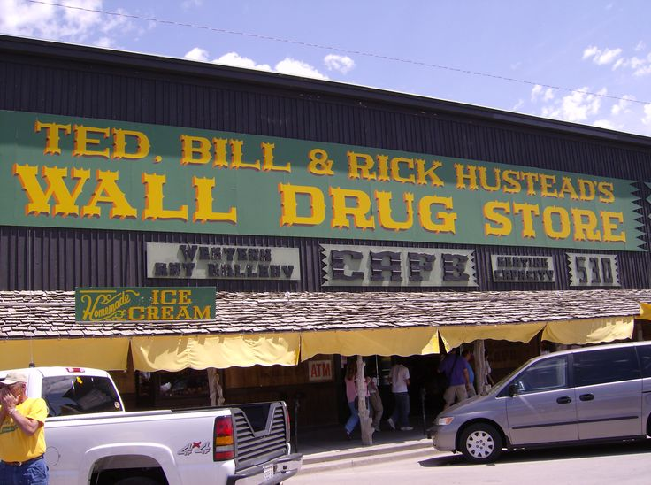 Wall Drug in Wall, SD. By far the coolest pharmacy I have ever been in! LOL