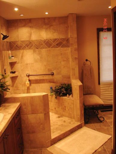25 best ideas about corner showers on pinterest small for Handicapped accessible bathroom plans