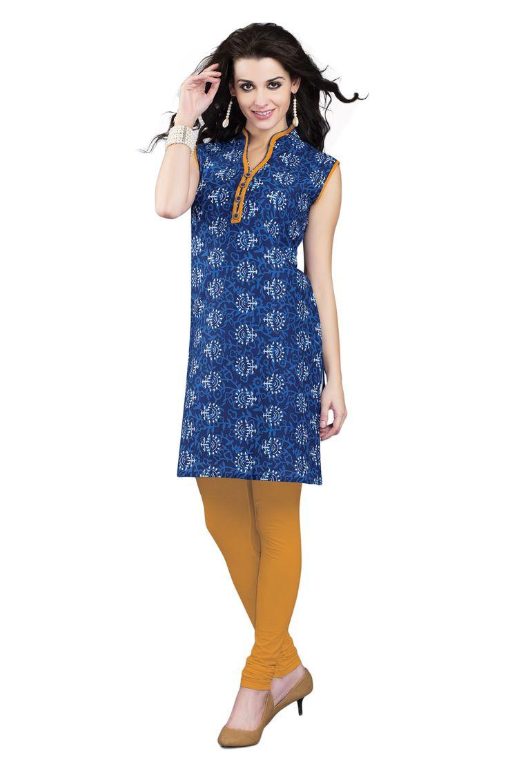 #DenimBlue #Kurti #Casualwear #Officewear #Occasionalwear buy at salwarstudio.com