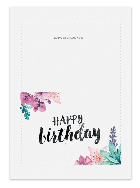 Printable Birthday Card For Her Watercolor Birthday Card In 2021 Happy Birthday Cards Printable Free Printable Birthday Cards Birthday Cards For Mom