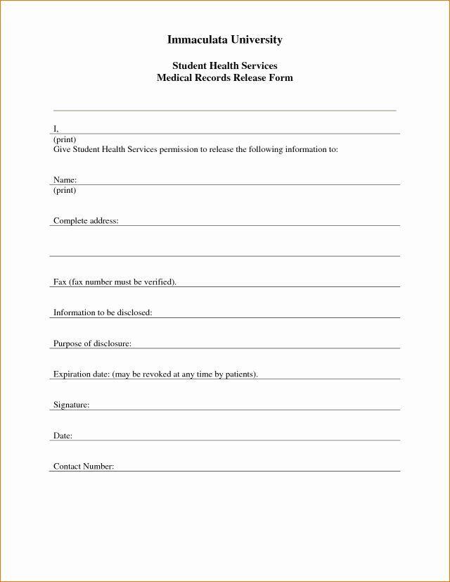Medical Authorization Form Template Unique Printable Medical