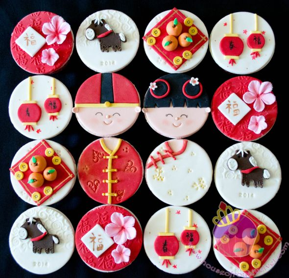 chinese new year cupcakes | returning customer asked me to make these Chinese new year cupcakes ...