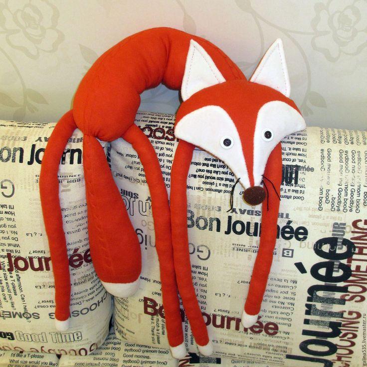 Купить Подушка - рыжая лиса - Подружка - рыжий, огненно-рыжый, большая лиса, подушка лиса