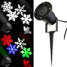 Открытый Водонепроницаемый LED Проектор Light Moving Снежинка Стиль Пейзаж Сада Двор Свет Этапа Рождественские Украшения свет(China (Mainland))