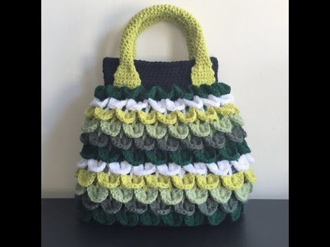 Crochet Stitches In Tamil : crochet crocodile stitch bag tutorial*???????? ?? ...