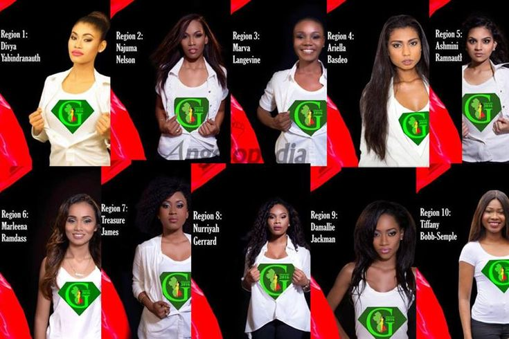 Miss World Guyana 2016 Meet the contestants
