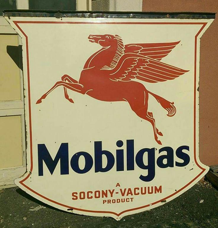 Original Mobilgas Porcelain Sign