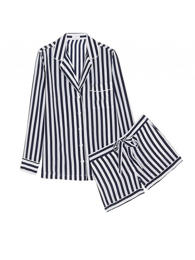 Equipment Lillian Striped Pajama Set // sleepwear