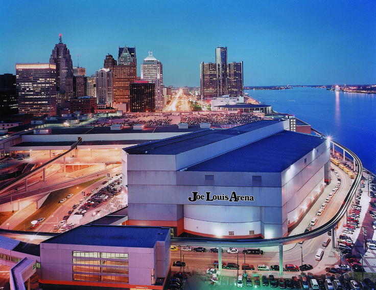 """""""The Joe"""", Joe Lewis Arena in Downtown Detroit, home of The Detroit Red Wings."""