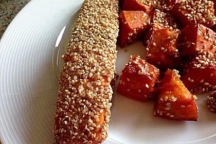 Marinierter Lachs mit Sesamkruste 1