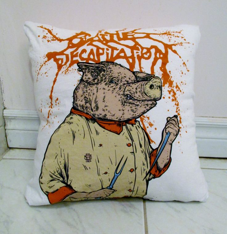Cattle Decapitation Pillow DIY Death Metal Decor #1 (Cover Only) by DarkStormDesign on Etsy