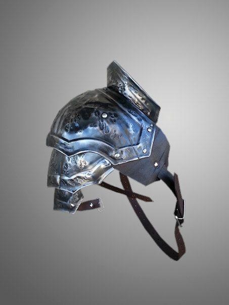 Steel Damaged Armor Pauldron Gladiator by IronWoodsShop on Etsy