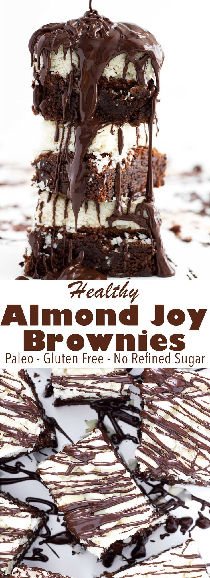 Just like the candy bar, but in brownie form! These Almond Joy brownies are paleo, gluten free, and dairy free. Perfect for a party or a weeknight treat!
