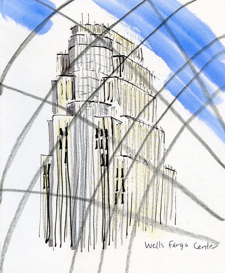 8-29-16 Wells Fargo Center from Foshay Tower observation deck, Minneapolis