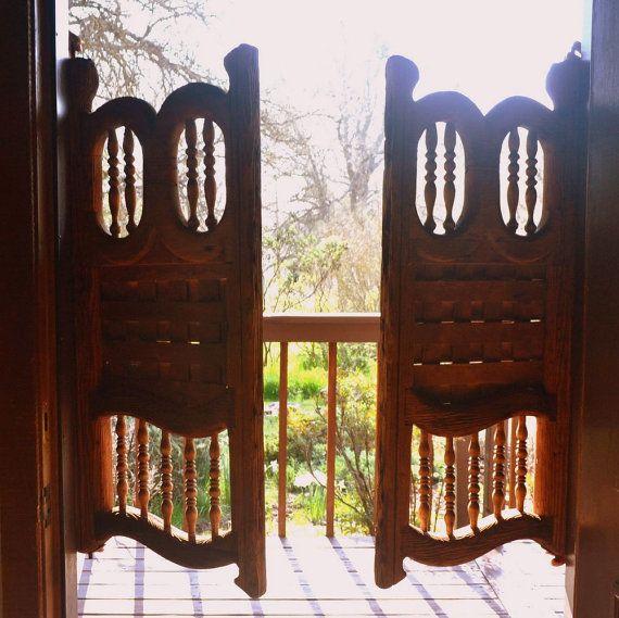 Antique Saloon Doors 1800s Old Western Wooden Swinging Bar