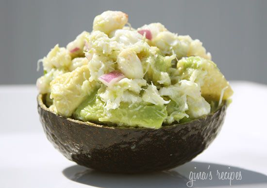 Avocado and Crab Salad - serve this as an appetizer or over a bed of greens for a delicious light lunch.: Skinny Avocado, Fun Recipes, Salad Recipes, Clean Eating, Crabs Meat, Avocado Crabs, Recipes Boxes, Yum, Crabs Salad