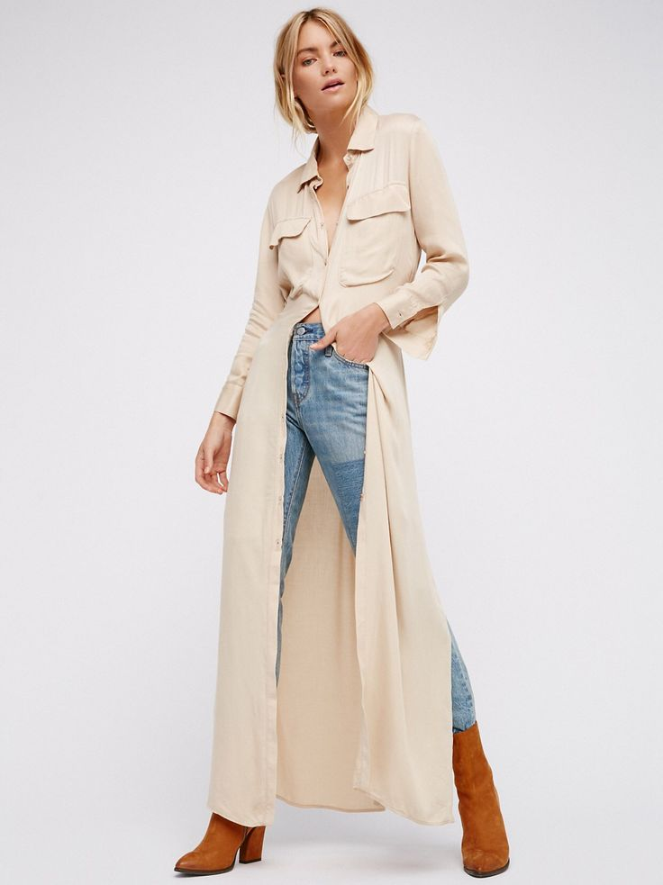 Your Love Maxi Shirt Dress from Free People!
