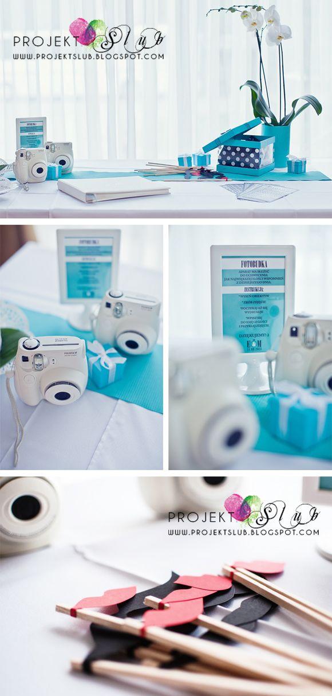 projekt ŚLUB - zaproszenia ślubne, oryginalne, nietypowe dekoracje i dodatki na wesele: Dodatki weselne w kolorze Tiffany Blue do zaproszeń ŚNIADANIE U TIFFANY'EGO - relacja z sali weselnej