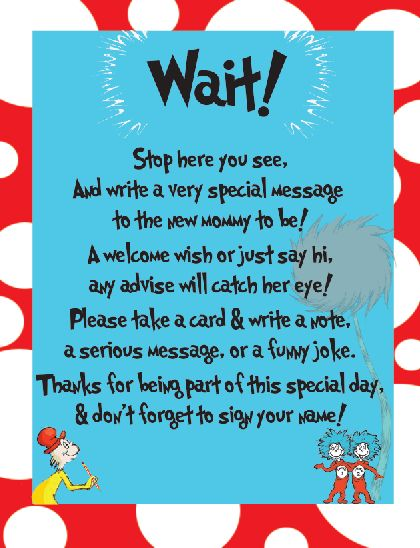 baby shower wishes baby shower signs boy shower dr seuss baby shower