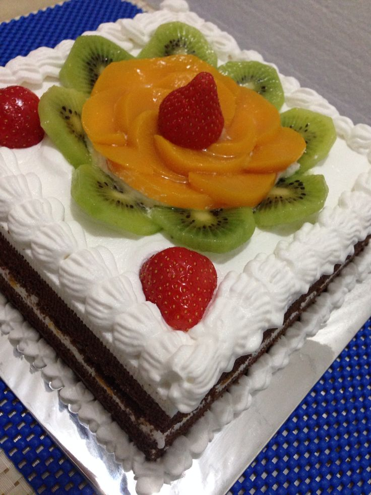 Peach Choco Cake