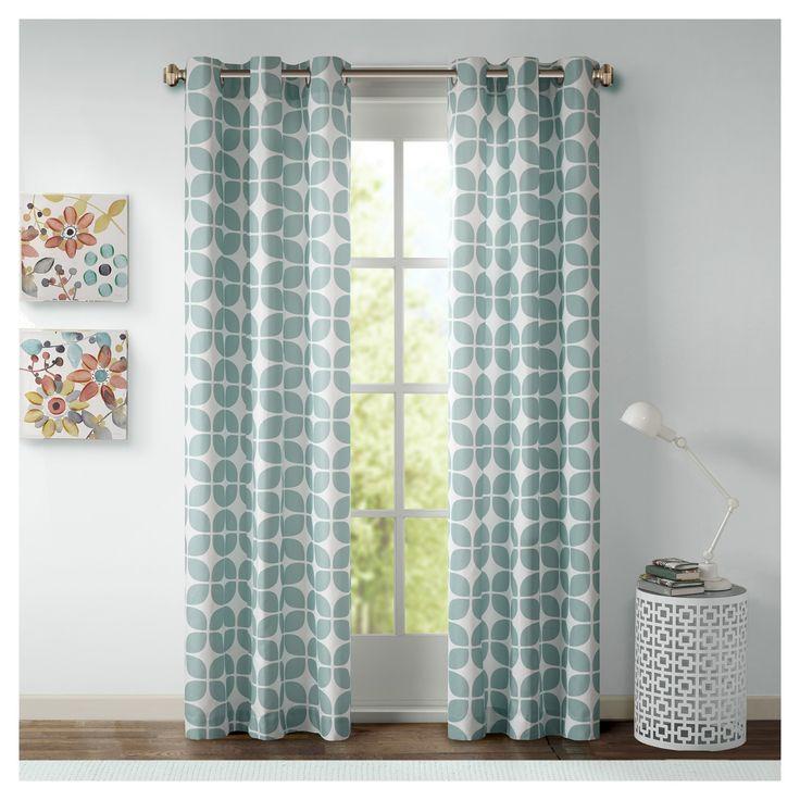 "Sonya Geometric Curtain Panel Pair - Gray (42""x84"")"