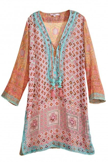 Decida Embroidered Cotton Gauze Tunic  | Calypso St. Barth