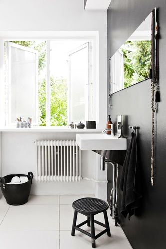 Via Planete Deco | Black and White | Bathroom