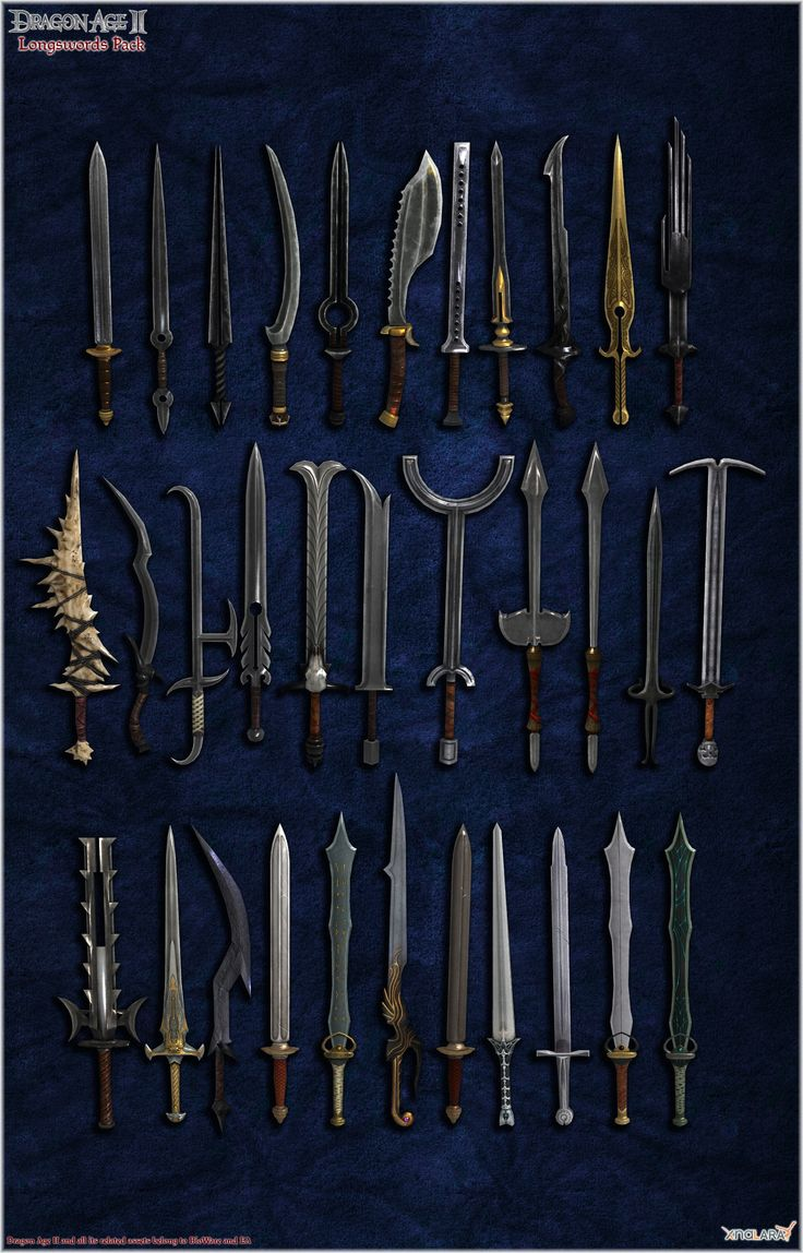 Dragon Age II: Longswords pack by Berserker79 equipment gear magic item   Create your own roleplaying game material w/ RPG Bard: www.rpgbard.com   Writing inspiration for Dungeons and Dragons DND D&D Pathfinder PFRPG Warhammer 40k Star Wars Shadowrun Call of Cthulhu Lord of the Rings LoTR + d20 fantasy science fiction scifi horror design   Not Trusty Sword art: click artwork for source
