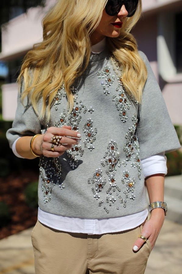 #embellished #sweater, via #AtlanticPacific @Blair R Eadie // Atlantic Pacific