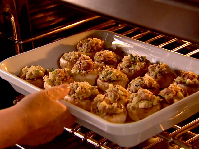 Check out Sausage-Stuffed Mushrooms. It's so easy to make ...