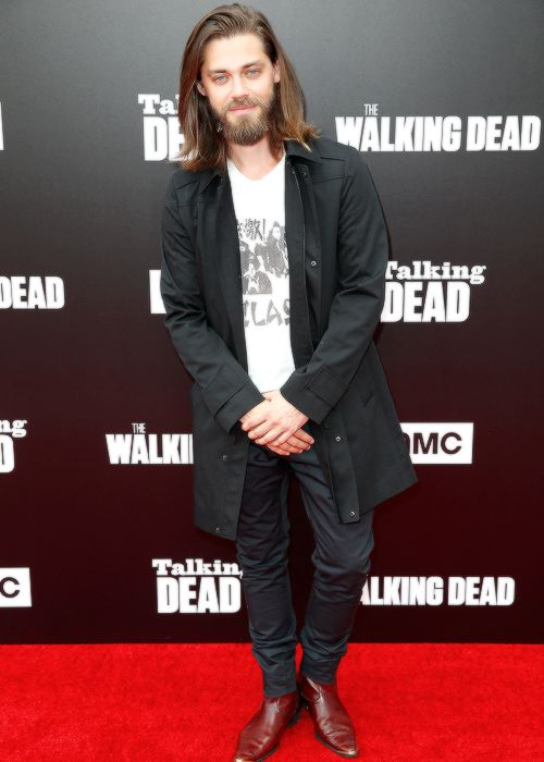 """ Tom Payne attends AMC presents 'Talking Dead' on October 23, 2016 in Los Angeles, California """