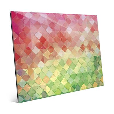 """Click Wall Art Holiday Checkered Diamonds Graphic Art on Plaque Size: 20"""" H x 24"""" W x 1"""" D"""