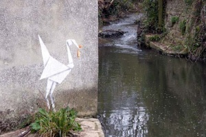 Origami Banksy