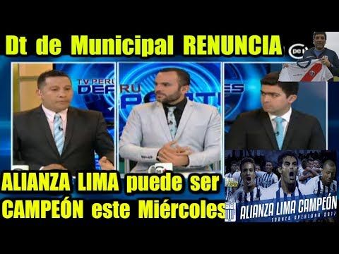 Alianza Lima A PASO DE CAMPEÓN │ Dt de Municipal Renuncia, Opina Coki Gonzales en Tv PERÚ DEPORTES - YouTube