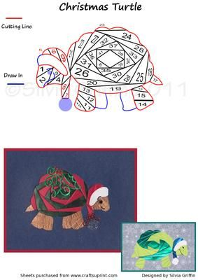 Christmas Turtle IF on Craftsuprint designed by Silvia Griffin - Precious turtle for all your people on your Christmas list. Bud also will give you more pleasure after Christmas. - Now available for download!